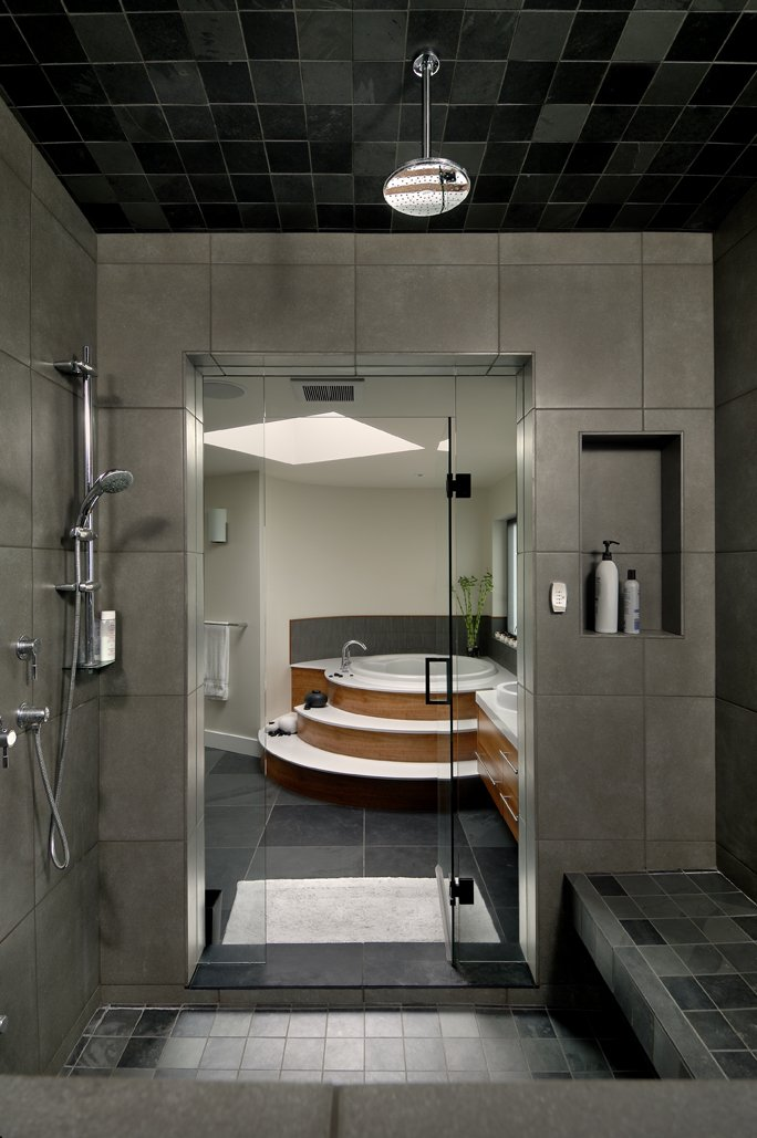 Shower Room, Modern Home in Victoria, British Columbia