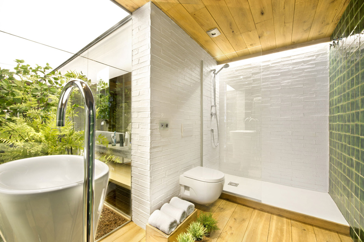 Shower, Sink, Loft Style Home in Terrassa, Spain