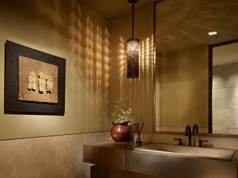 Sink, Lighting, Bathroom, Beachfront Home in Cabo San Lucas, Mexico