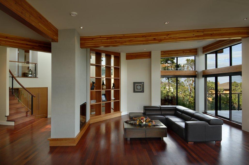 Sofa, Living Room, Modern Home in Victoria, British Columbia