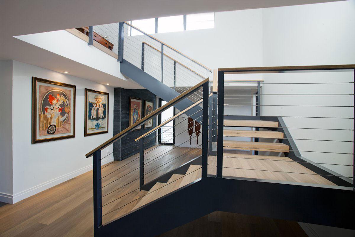 Stairs, Modern Retreat in Davie, Florida