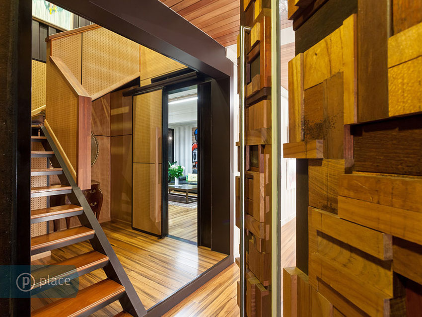Stairs, Shipping Container Home in Brisbane, Queensland