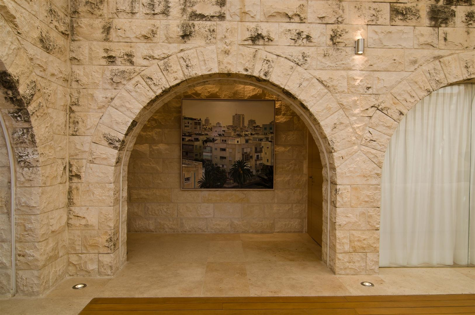 Stone Arches, Art, Contemporary Stone House in Jerusalem, Israel