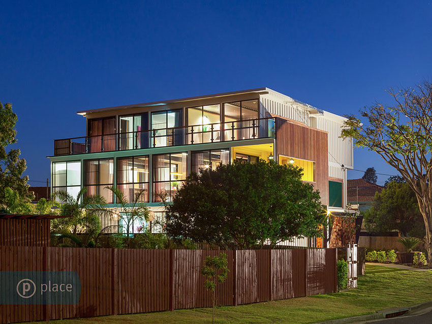 Street View, Shipping Container Home in Brisbane, Queensland