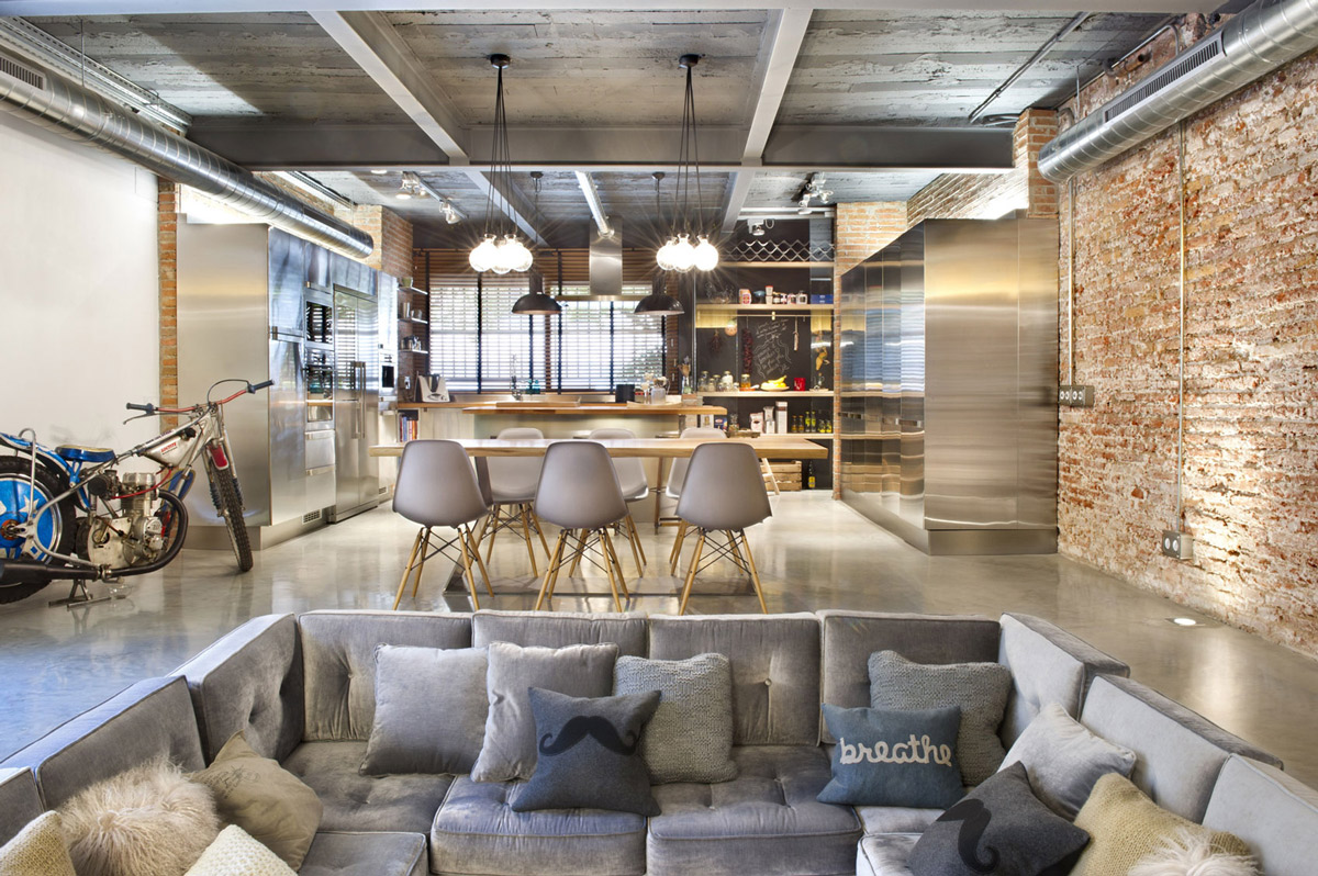 Commercial Space Turned into a Loft Style Home in Terrassa, Spain