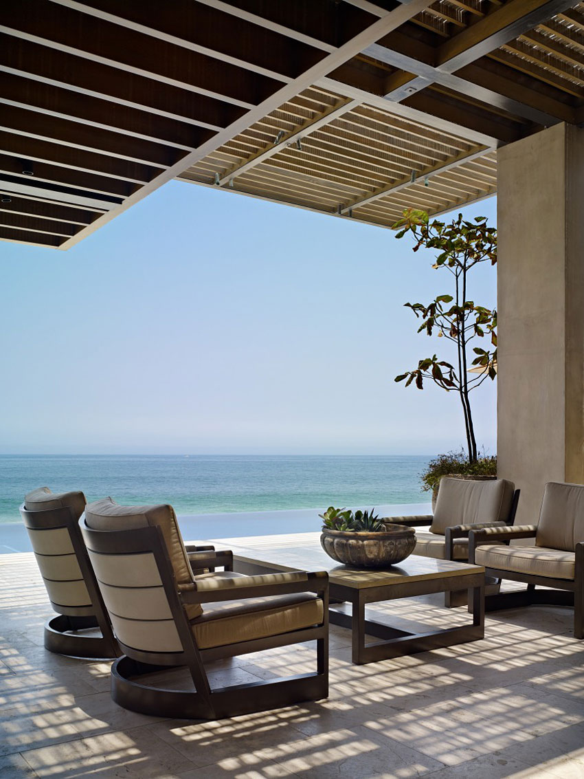 Terrace, Furniture, Sea Views, Beachfront Home in Cabo San Lucas, Mexico