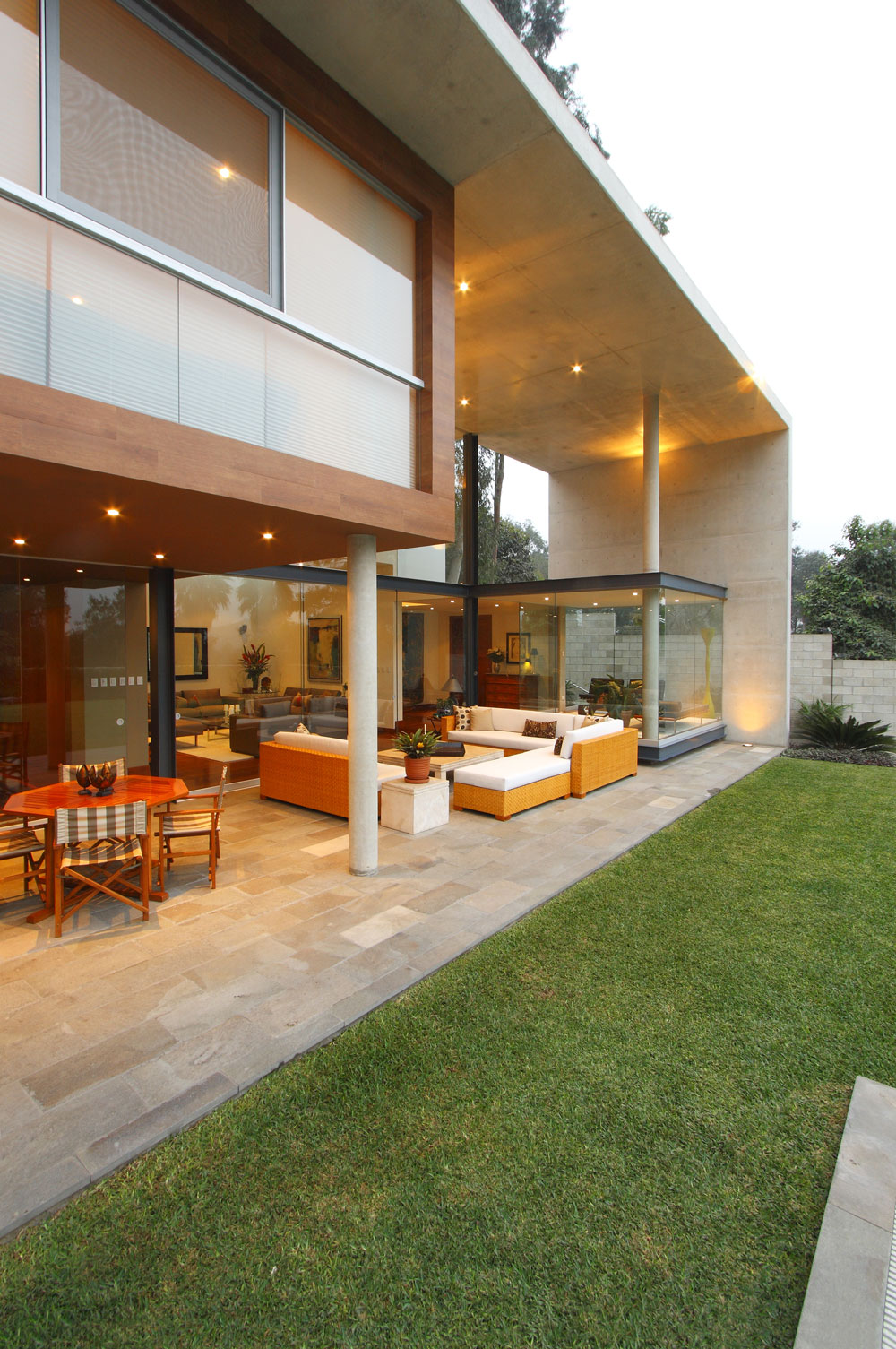 Terrace, Outdoor Furniture, Family Home in Lima, Peru