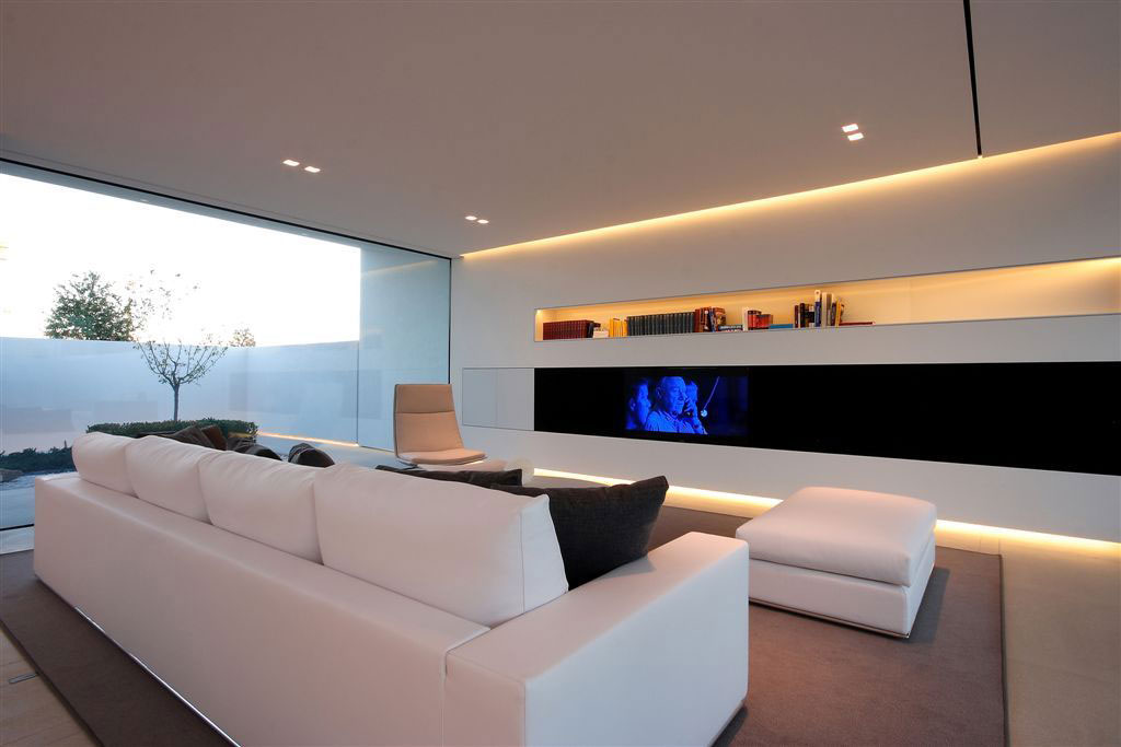 White Sofa, Entertainment Area, Contemporary Villa in Jesolo Lido, Venice, Italy