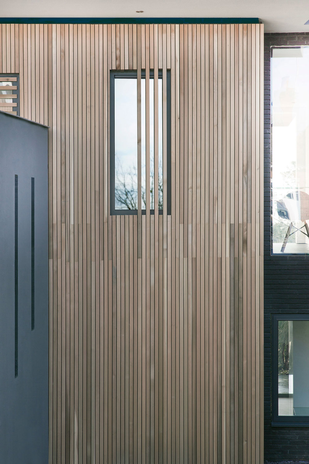 Wood Cladding, Architectural Detail, Modern Home in Hampshire, England