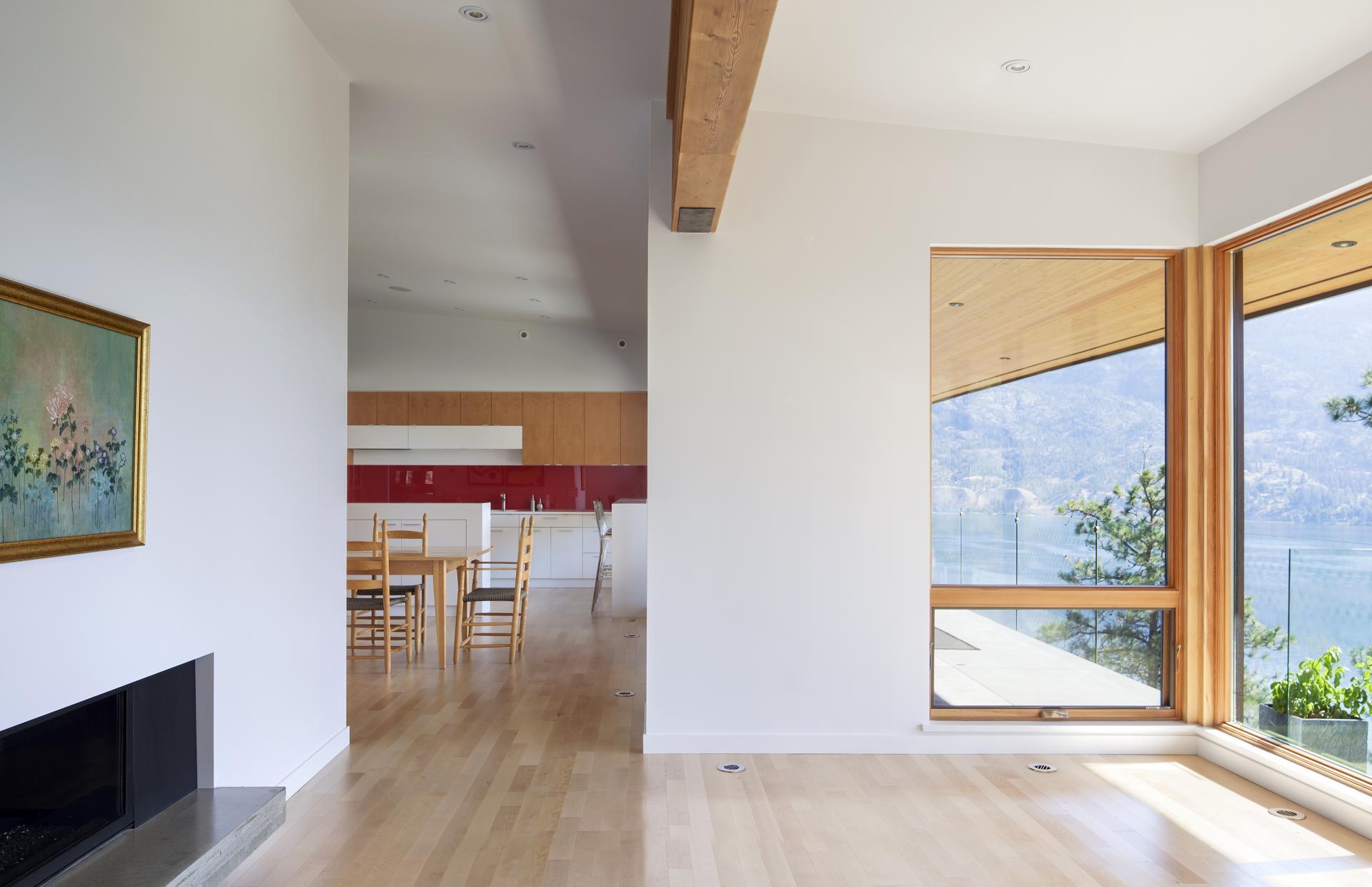 Art, Fireplace, Interior Design, Skaha Lake Home, Kaleden, British Columbia