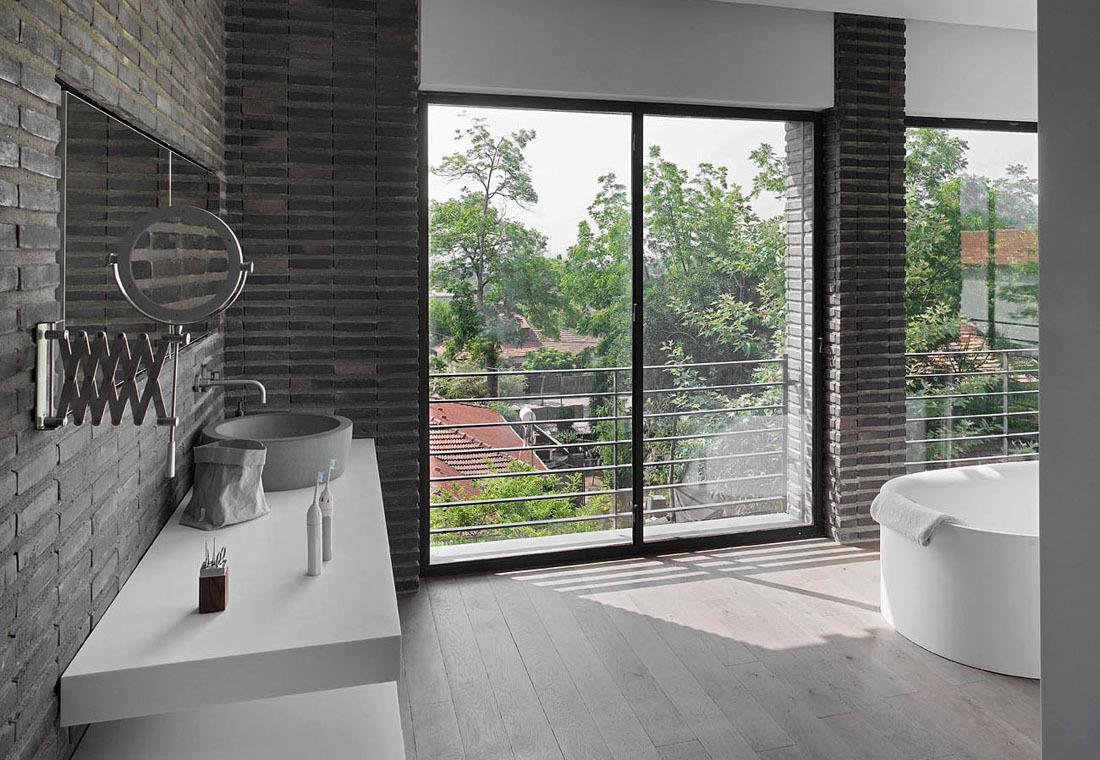 Bathroom, Sink, Mirror, Family Home in Ramat HaSharon, Israel