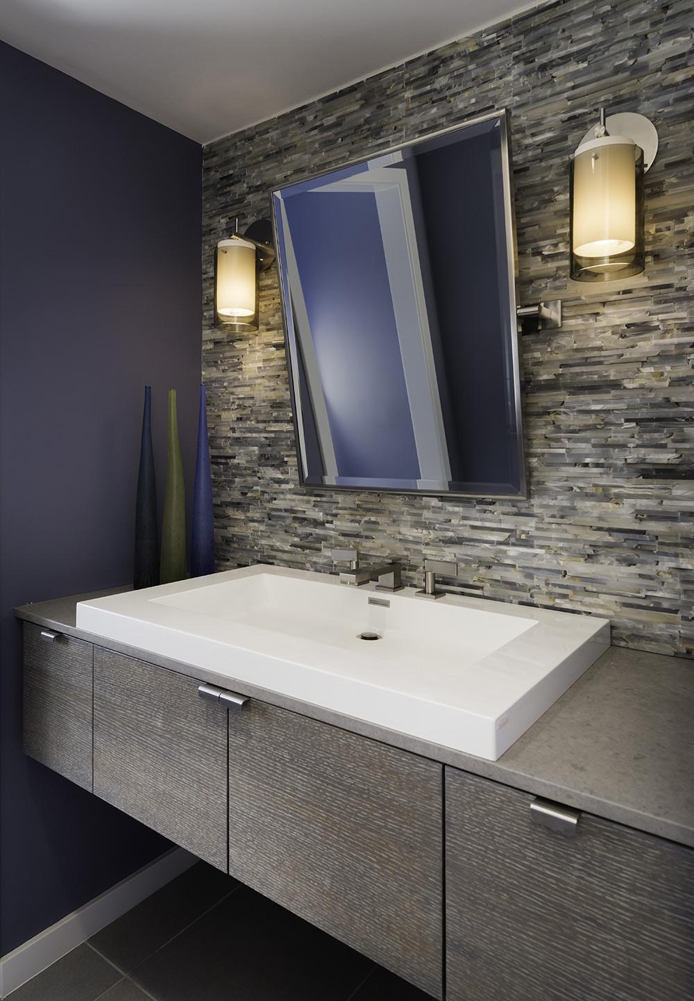 Kitchen Bath Remodel Gives Mid Century Home Modern Updates: Bathroom, Sink, Mirror, Mid-Century Modern House In