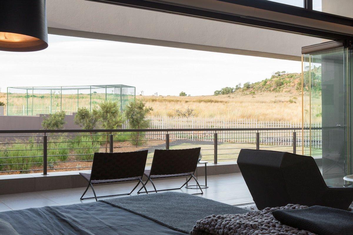 Bedroom, Balcony Views, House in Johannesburg