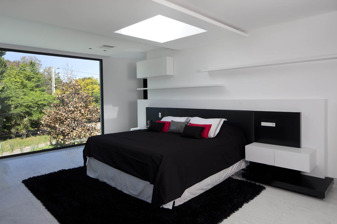 Bedroom, Modern House in Pilar, Buenos Aires