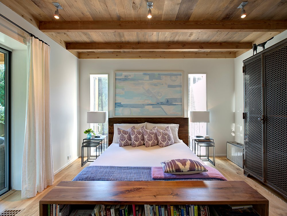 Bedroom, Wood Ceilings, Home Addition, Southampton, New York