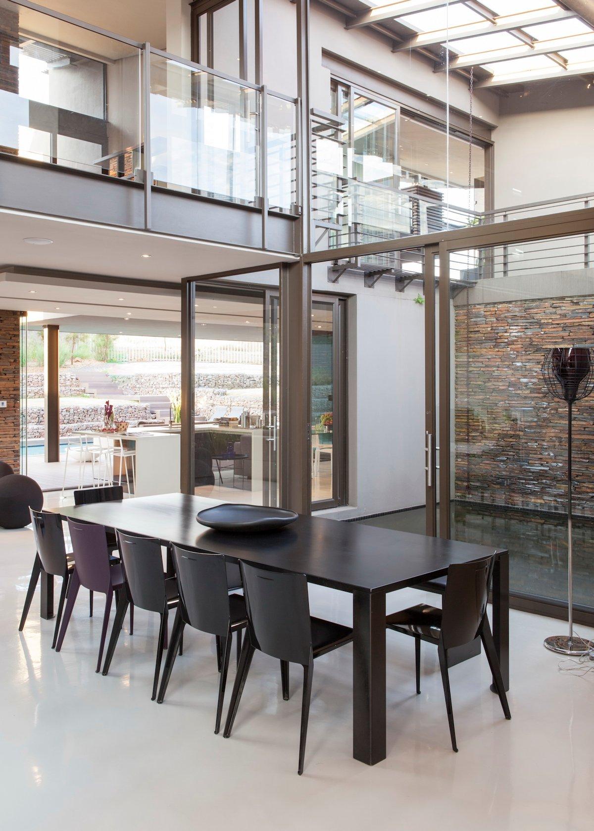Dark Dining Table, House in Johannesburg