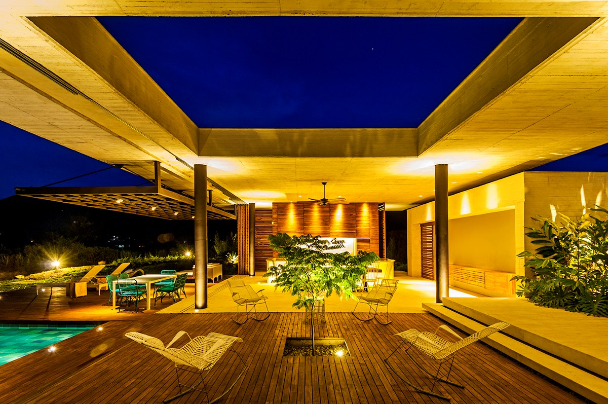 Deck, Lighting, Living Space, House in Villeta, Colombia