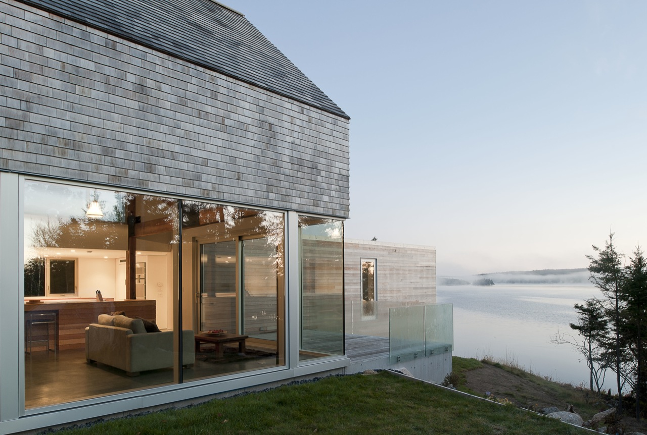 Modern Courtyard House in Prospect, Nova Scotia