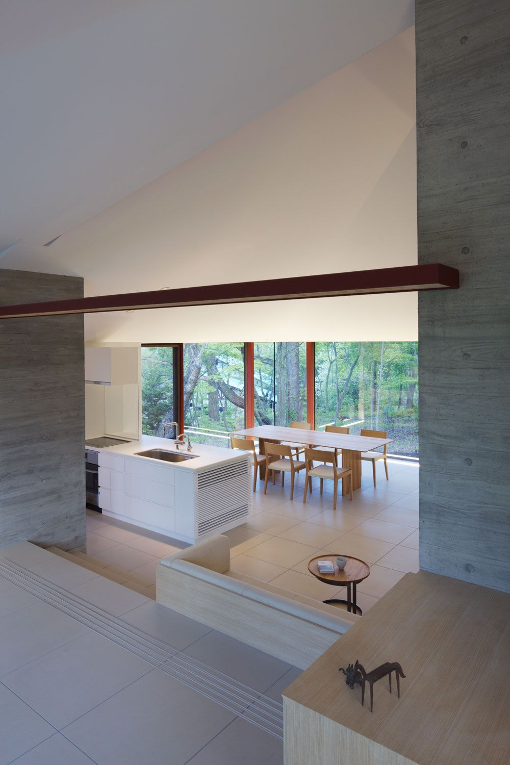 Dining, Kitchen, Open Plan, Hilltop Home in Karuizawa, Japan