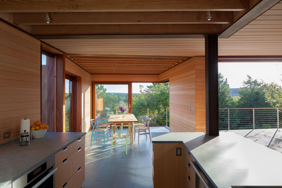 Dining Room, Kitchen, Home in Edgartown, Massachusetts