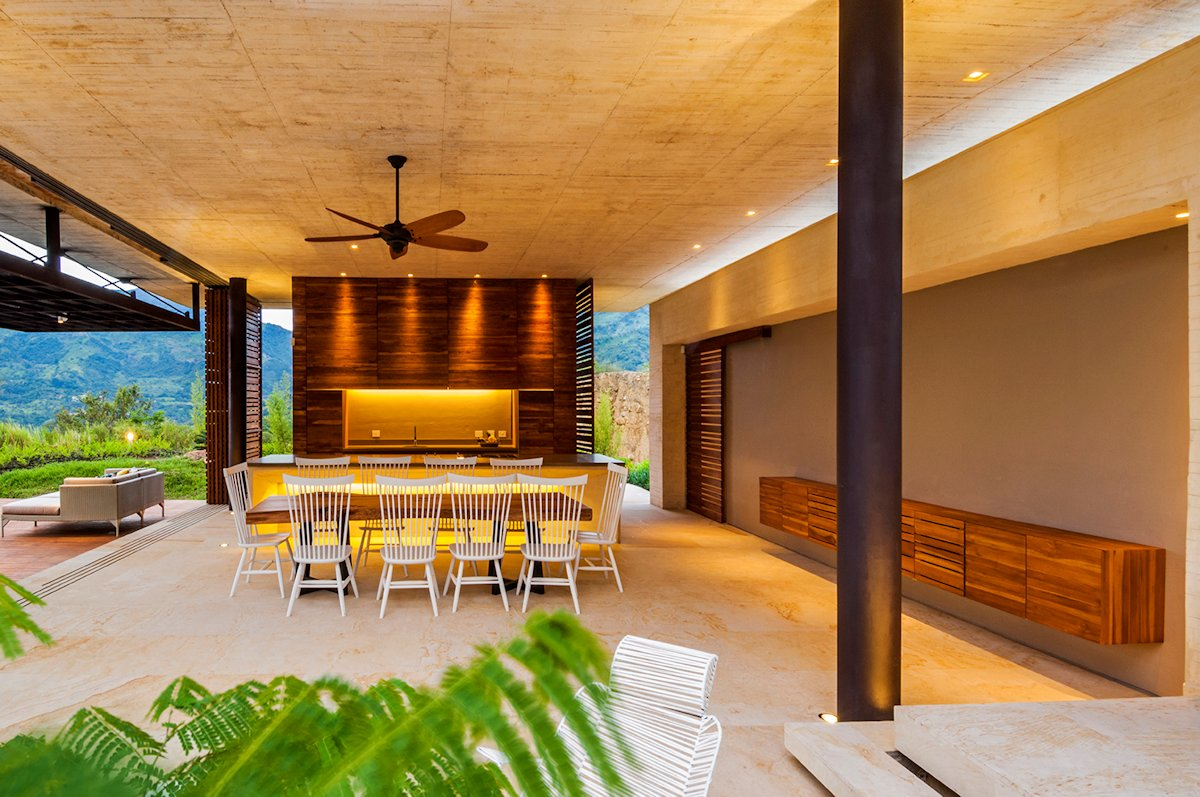 Dining Space, House in Villeta, Colombia