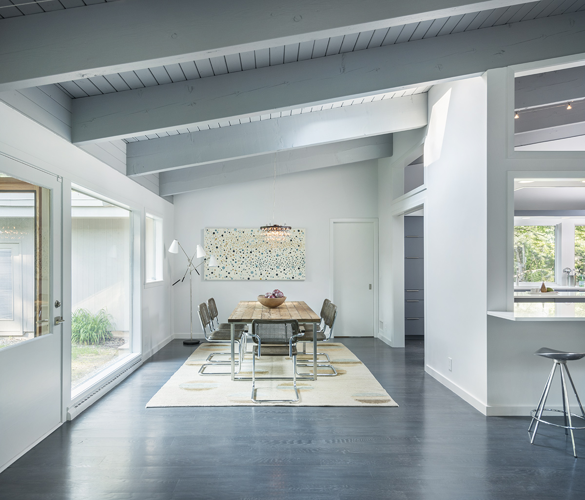 Dining Space, Mid-Century Modern House in Lincoln