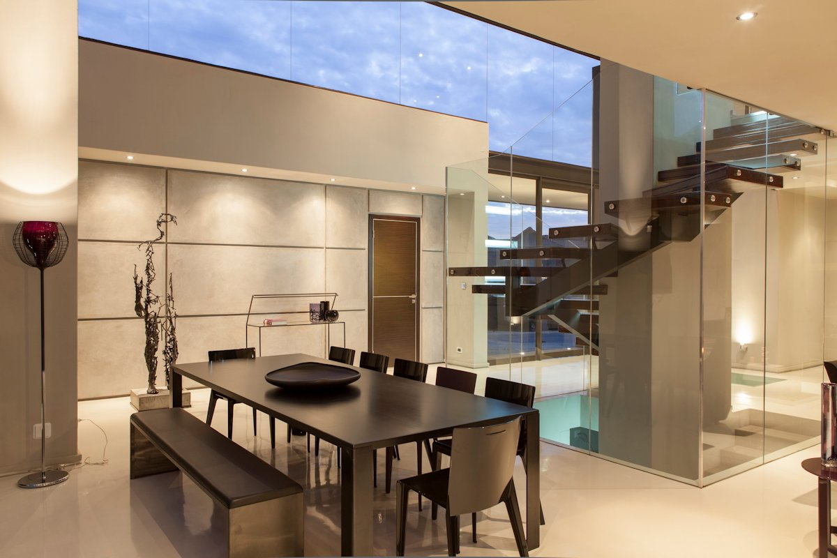 Dining Table, Lighting, Stairs, House in Johannesburg