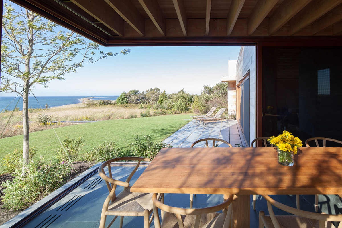 Dining Table, Terrace, Ocean Views, Home in Edgartown, Massachusetts