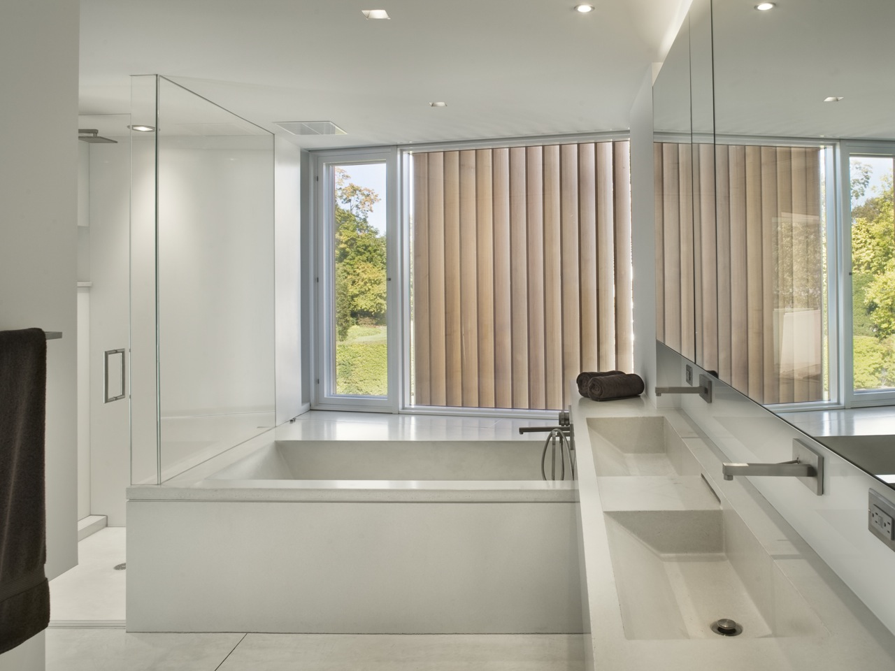Double Sinks, Bath, Shower, Oceanfront Residence in Connecticut