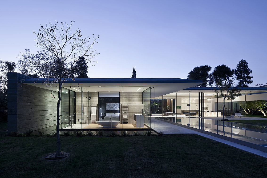 Evening, Lighting, Float House in Tel Aviv, Israel