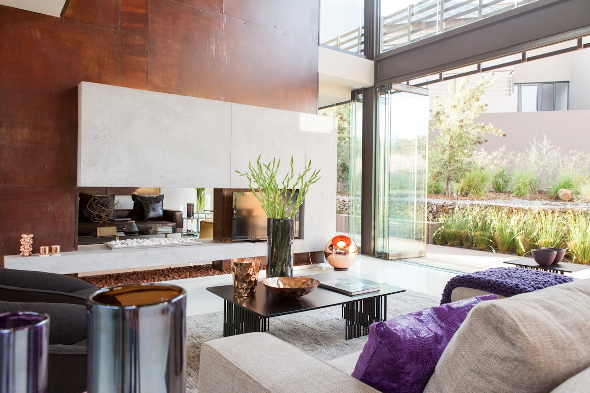 Fireplace, Coffee Table, Living Room, House in Johannesburg
