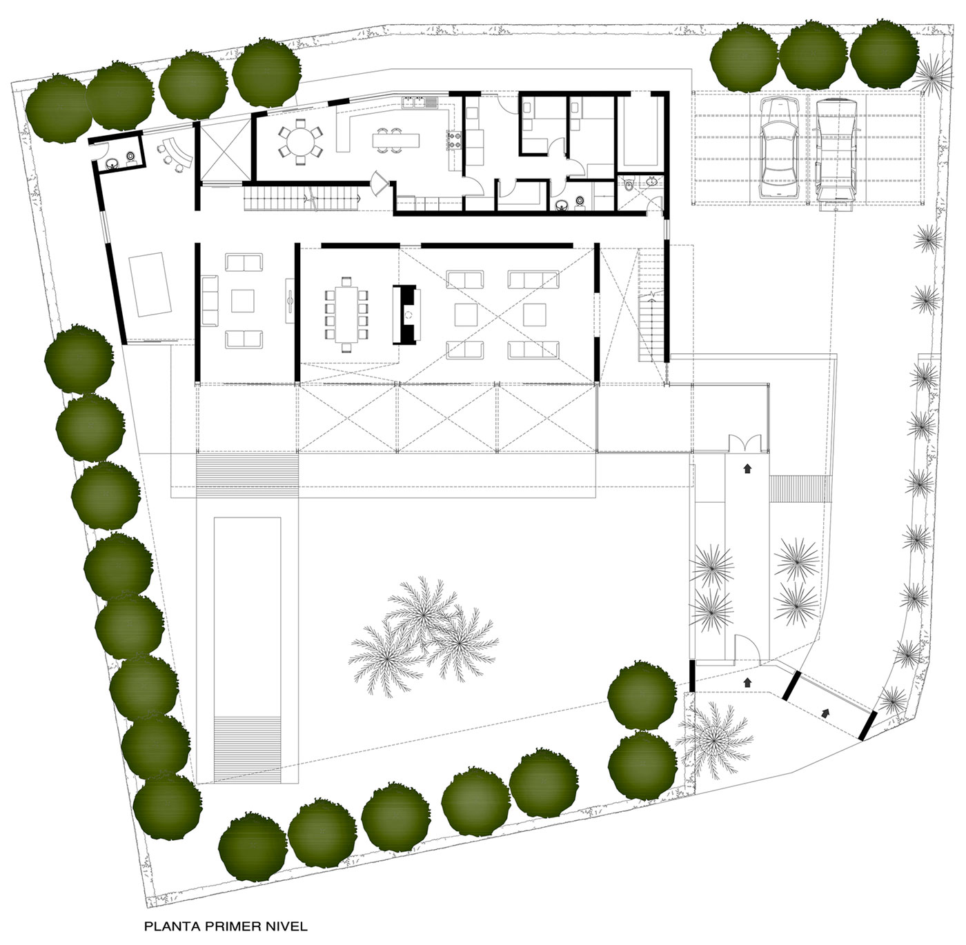 First Floor Plan, Imposing Family Home in Lima, Peru