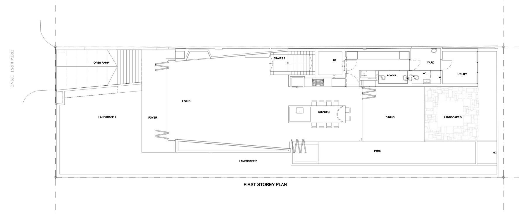 First Floor Plan, Modern Home, Singapore