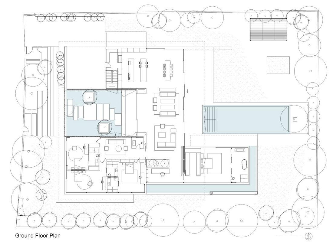 Ground Floor Plan Float House In Tel Aviv Israel