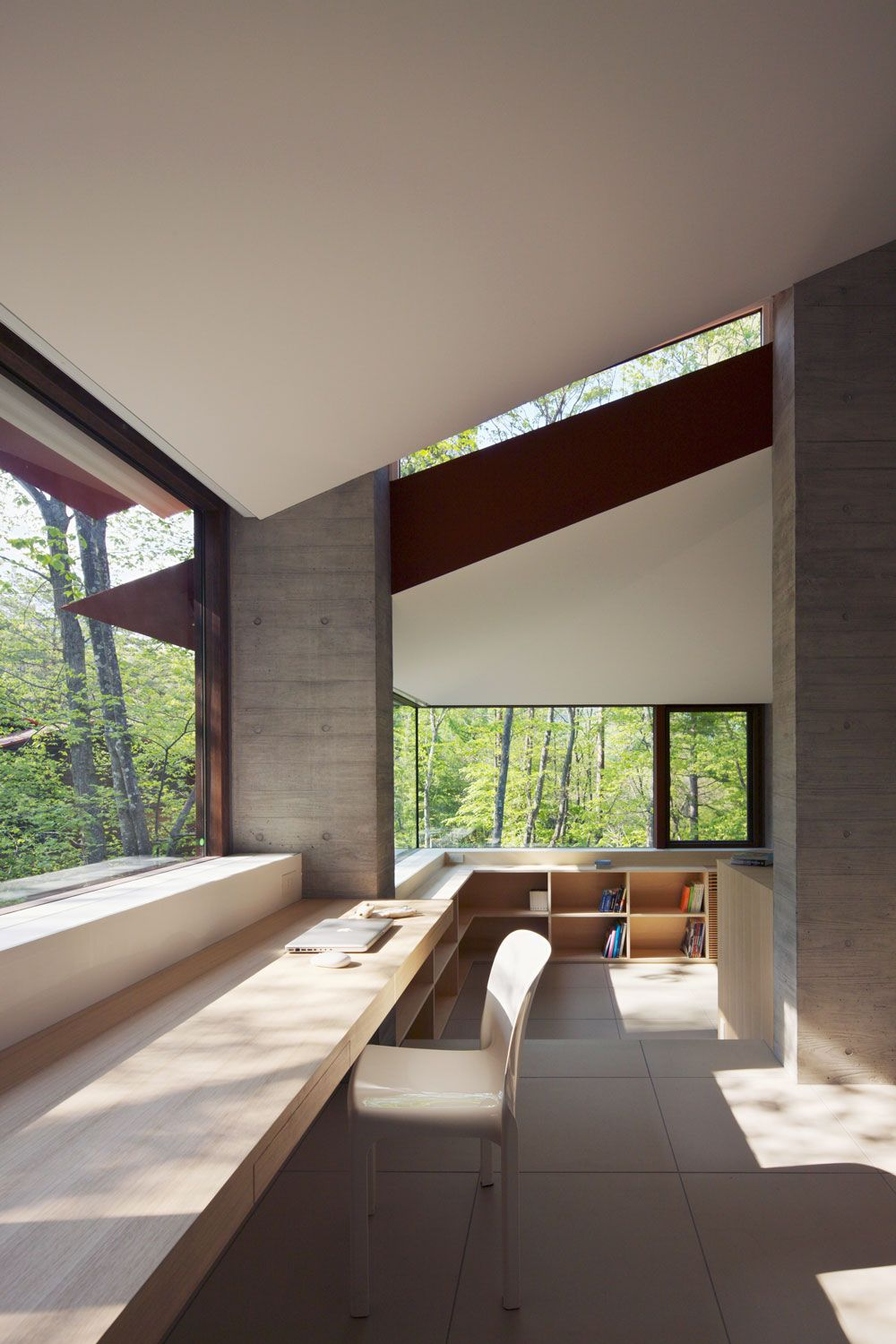 Home Office, Hilltop Home in Karuizawa, Japan