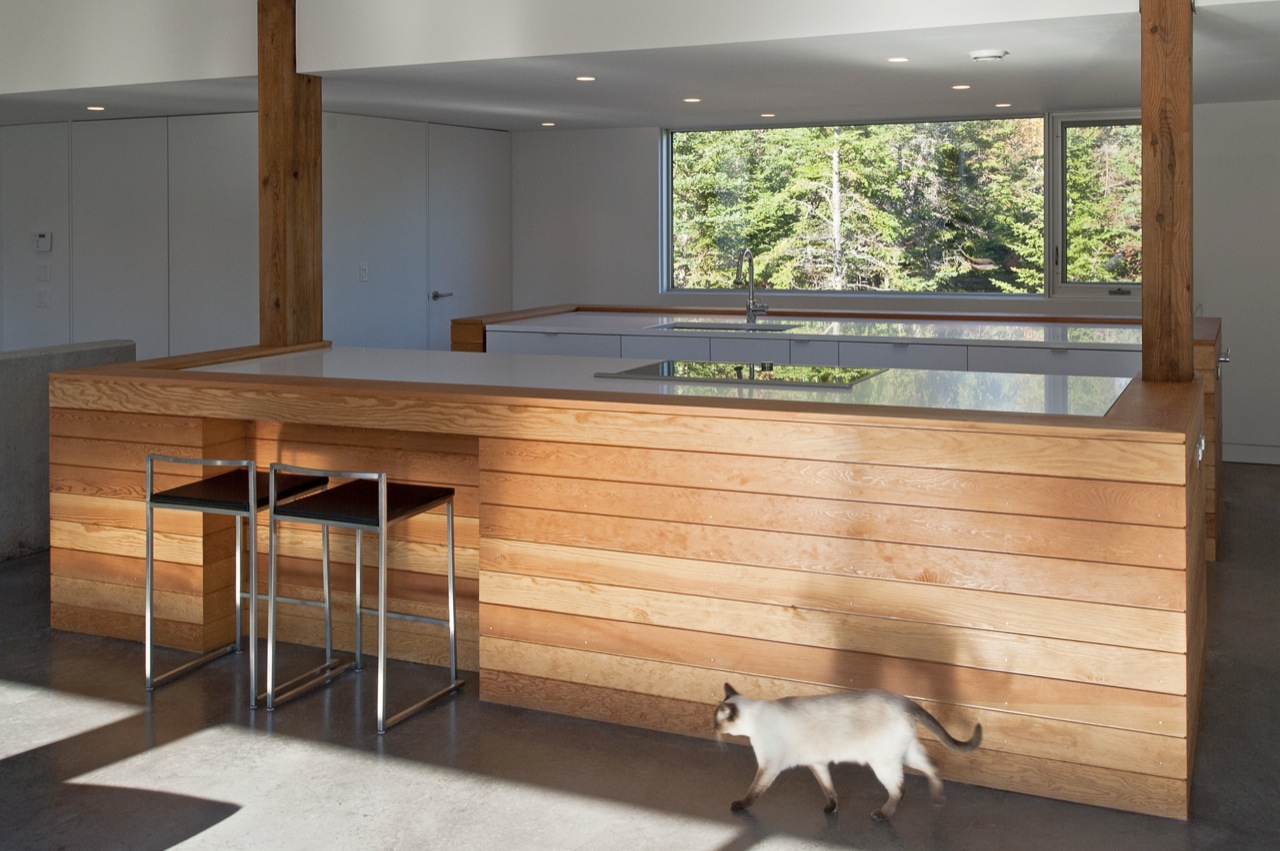 Kitchen Island, Breakfast Bar, House in Prospect, Nova Scotia