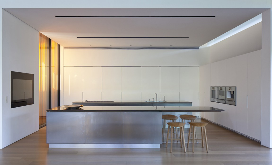 Kitchen Island, Float House in Tel Aviv, Israel