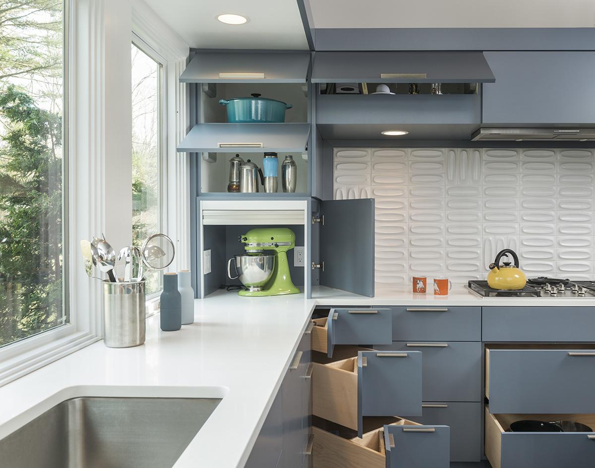 Kitchen Sink Open Units Mid Century