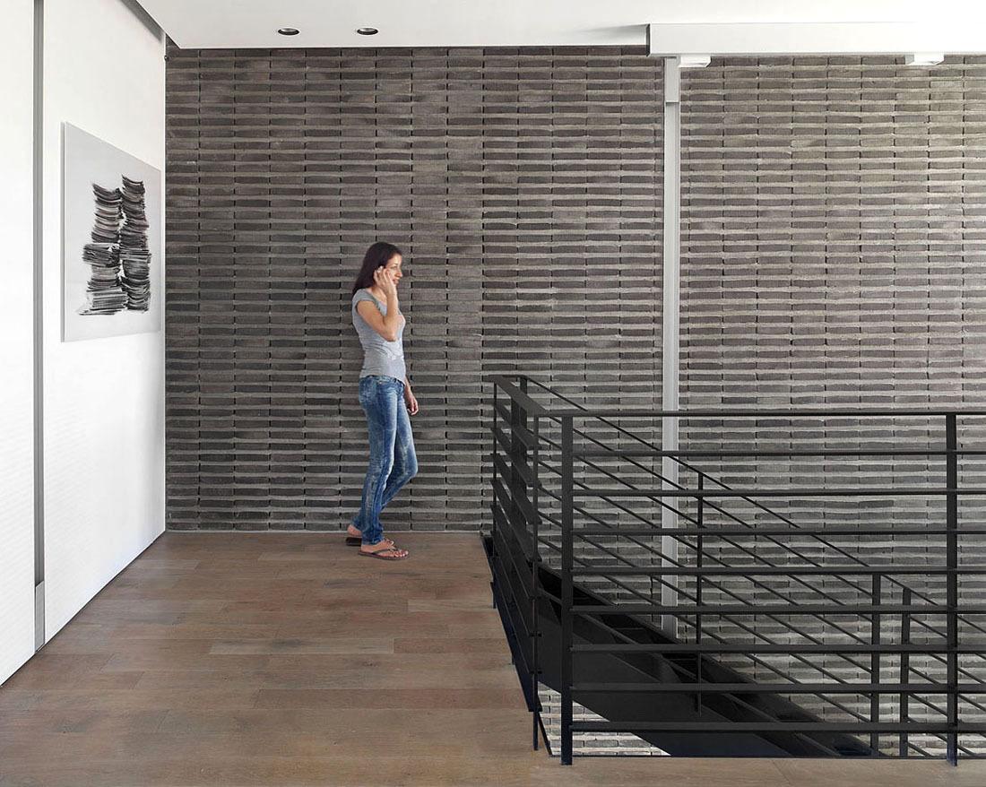 Landing, Metal Stairs, Family Home in Ramat HaSharon, Israel