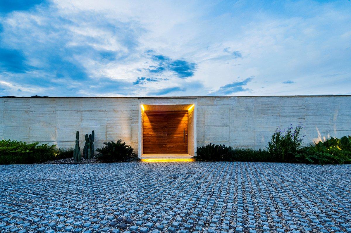 Large Wooden Door, Entrance, House in Villeta, Colombia