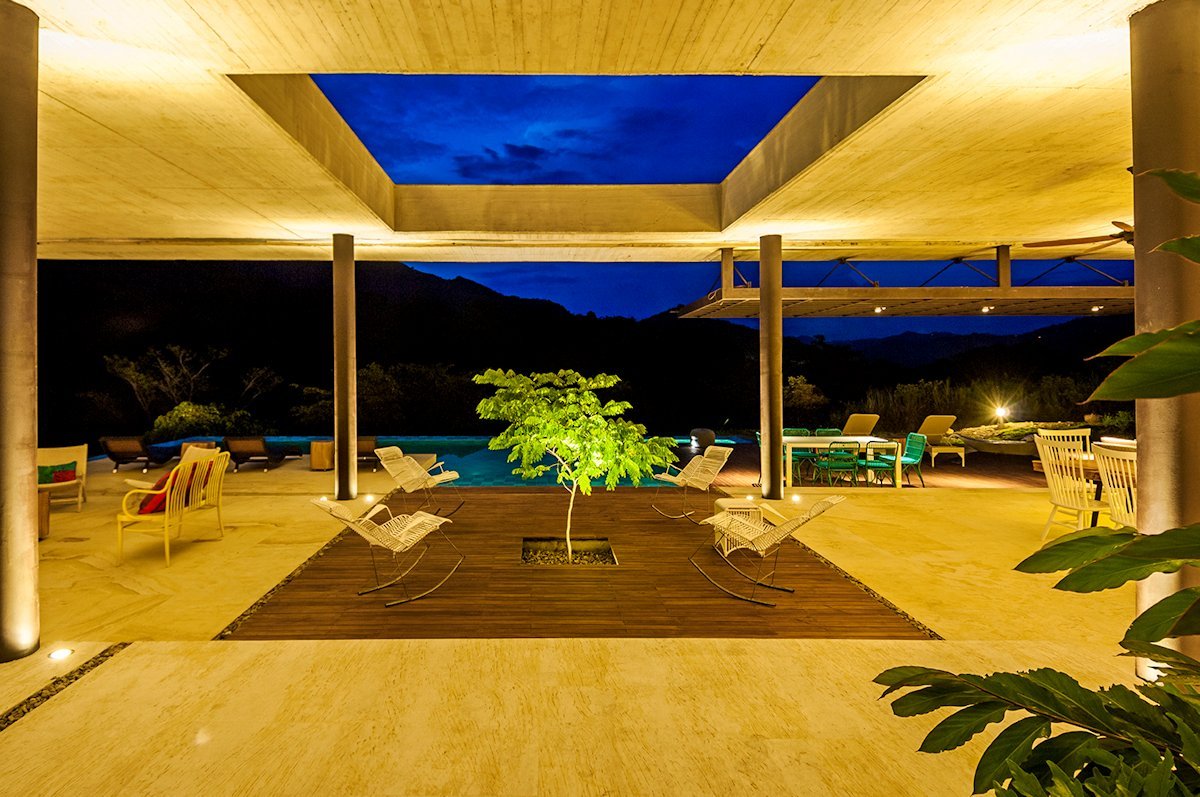 Living Space, Pool Lighting, House in Villeta, Colombia
