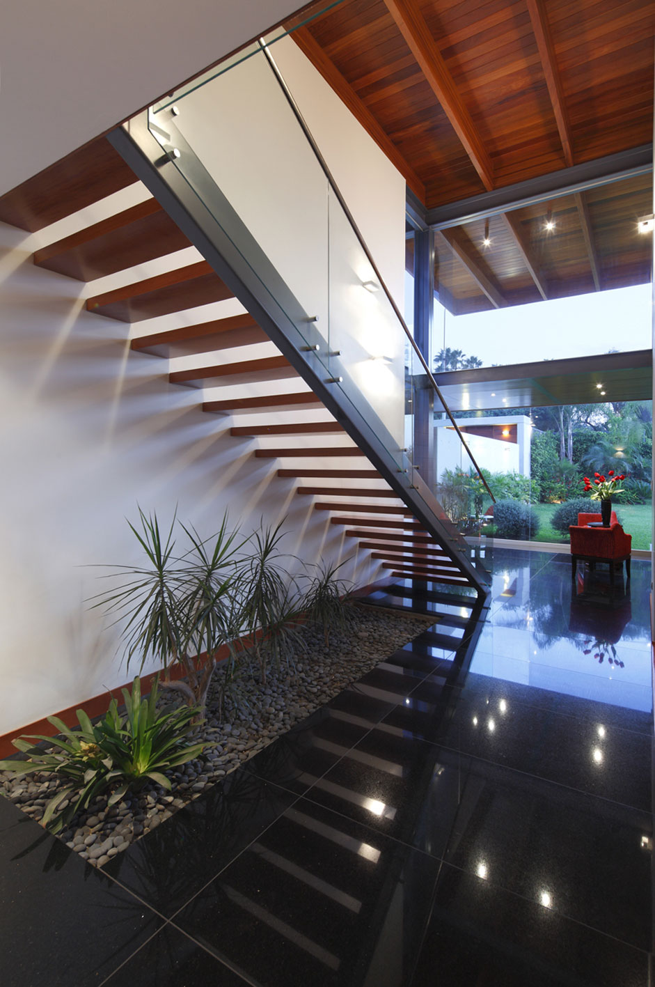 Metal, Wood & Glass Stairs, Imposing Family Home in Lima, Peru