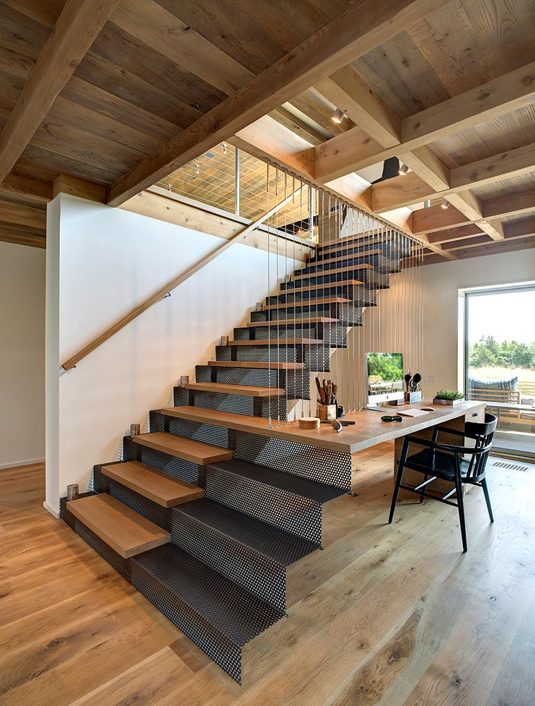 Metal & Wood Stairs, Home Office, Home Addition, Southampton, New York
