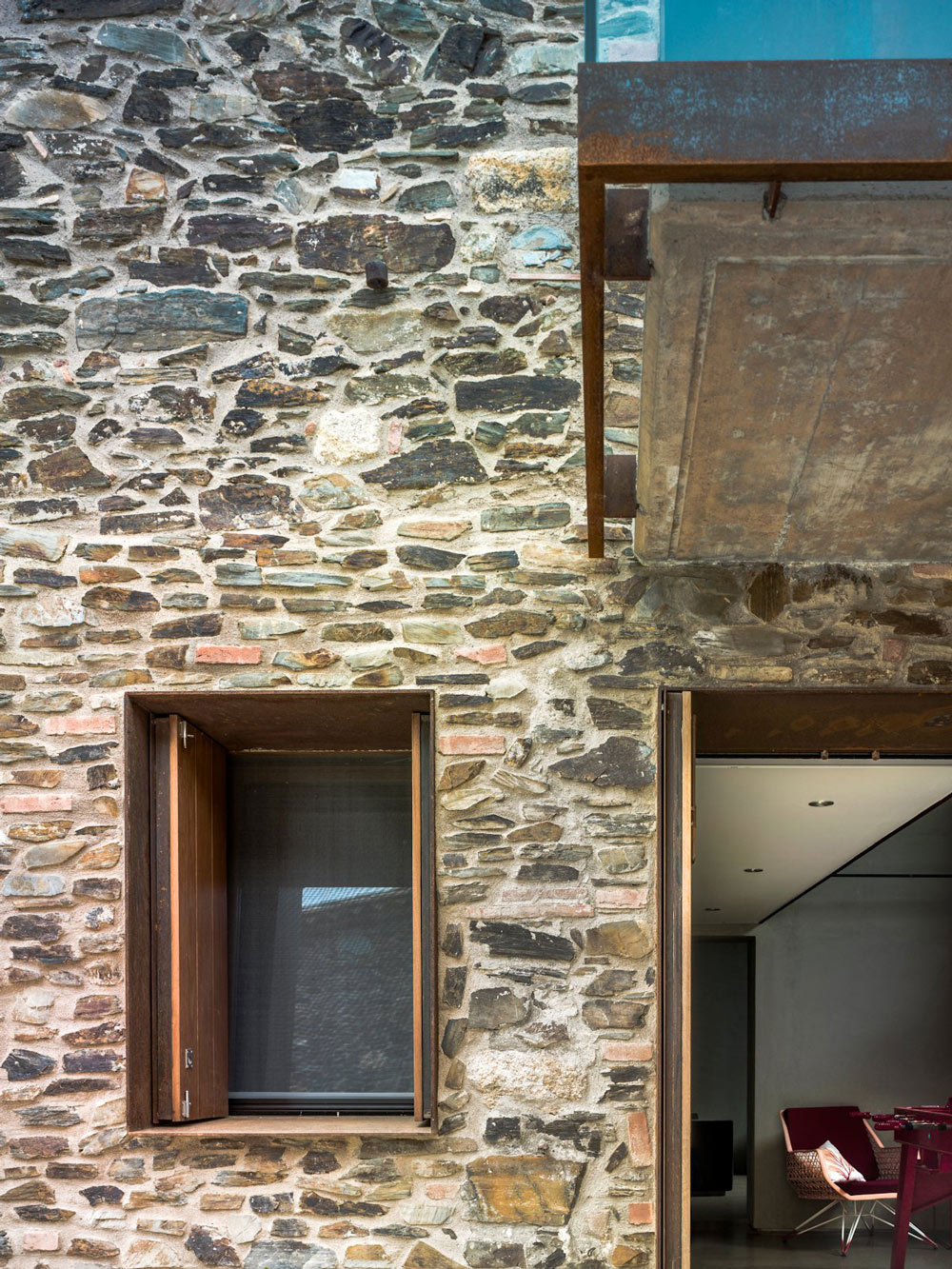Natural Stone Walls, Catalan Farmhouse, Girona, Spain