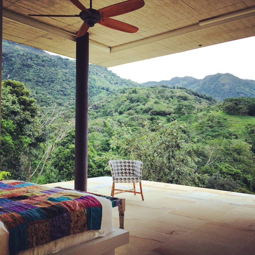 Open Bedroom, Mountain Views, House in Villeta, Colombia