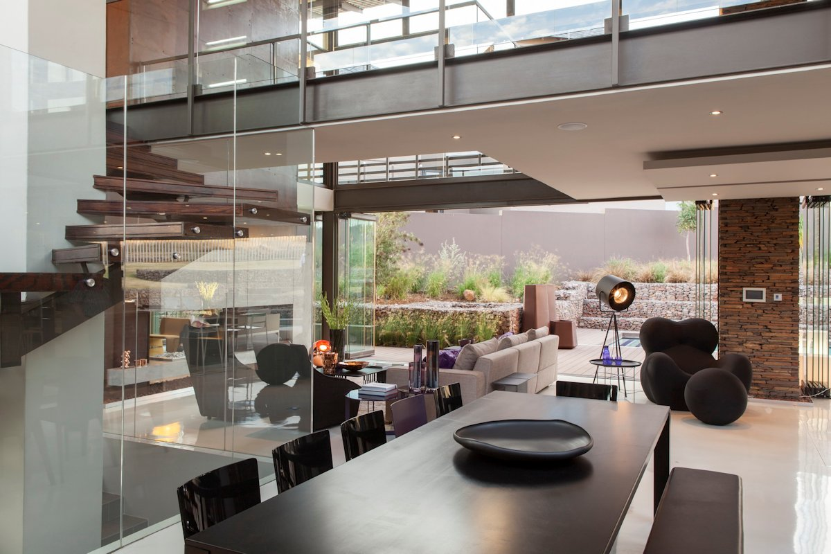 Open Plan Dining, Living Space, House in Johannesburg