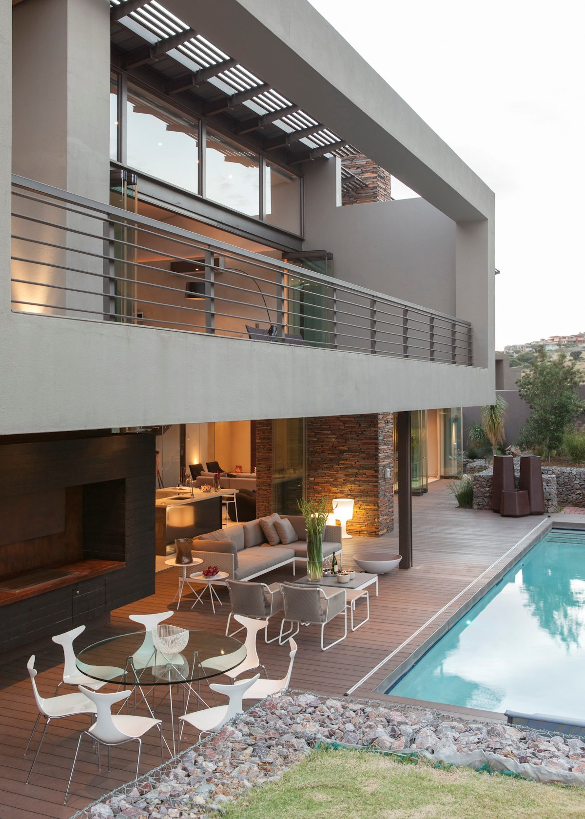 Outdoor Dining, Balcony, Pool, House in Johannesburg