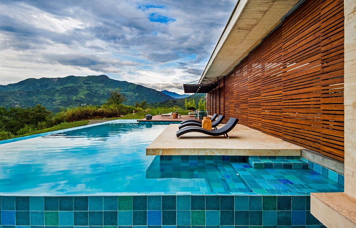 Outdoor Pool, Mountain Views, House in Villeta, Colombia