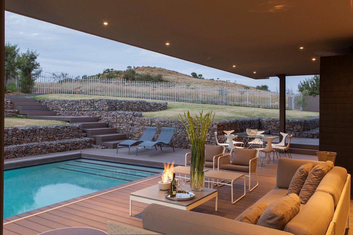 Outdoor Sofa, Dining Table, Pool, Terrace, House in Johannesburg