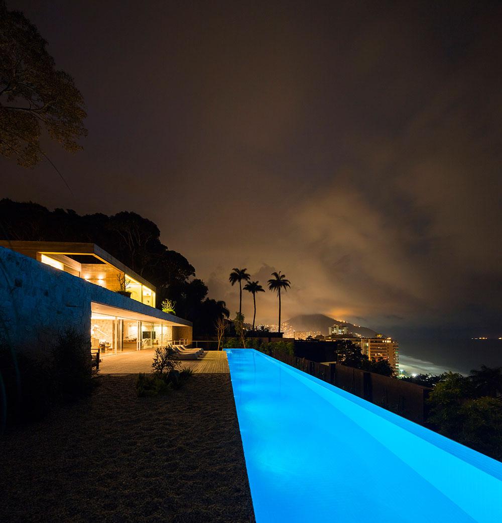 Pool, Lighting, City & Ocean Views, Home in Rio de Janeiro